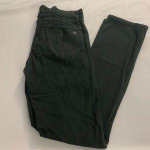Rag & Bone black slim straight button fly jeans